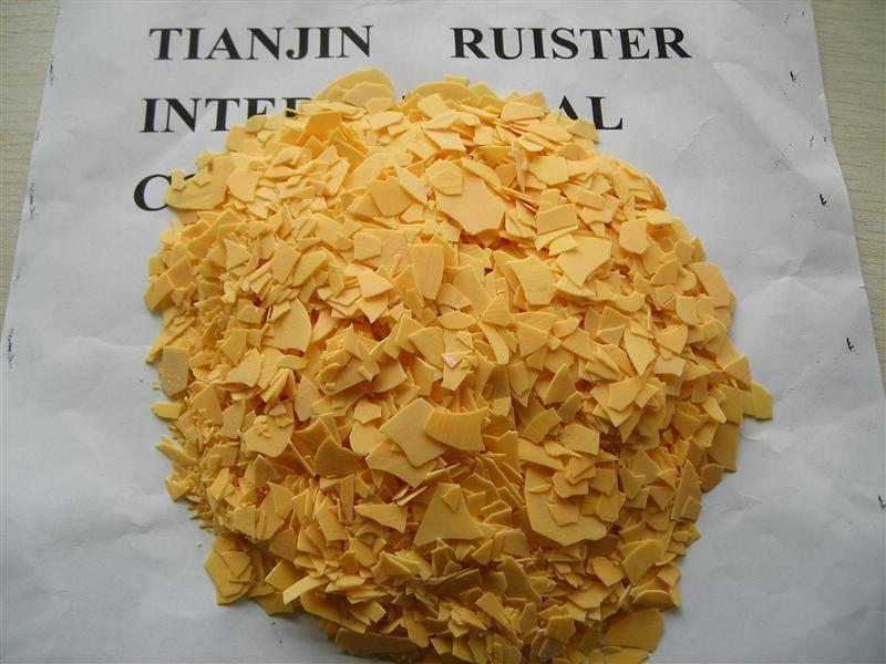 sodium sulphide/sodium sulfide/Na2S 60%min yellow flakes