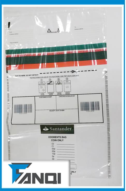 Bank Tamper Proof Bags For the Transport of Coins