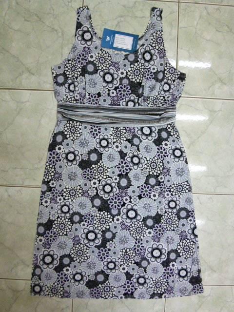 3529W-CAVIAR COMBO DRESS
