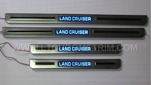 LED Door Sill Plates For Toyota Land Cruiser 2008-2014
