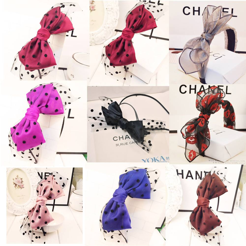 2015 Fashion lace women hairbands han edition hair band big bowknot hair accessories