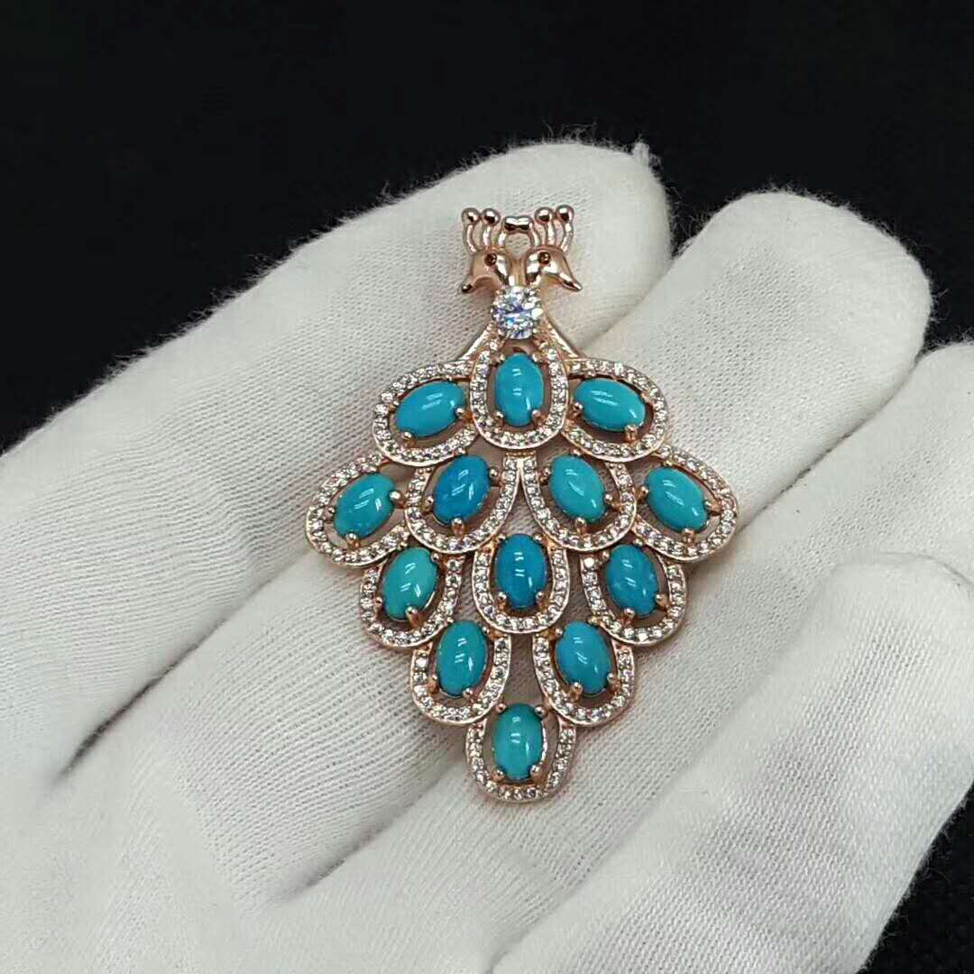 Natural Stone Beaded Jewellery Pendant for jewelry silver and gold