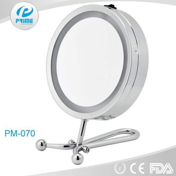 Promotional multi-functional illuminated handheld & desktop cosmetic mirror