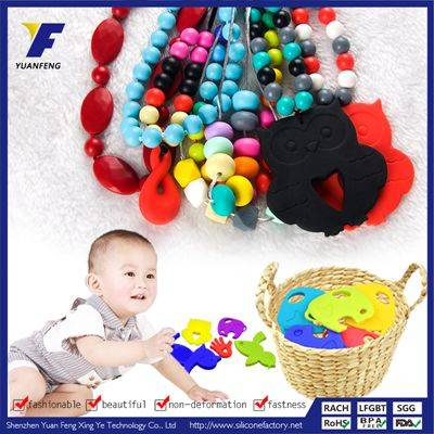 Wholesale Fashion BPA Free Silicone Necklace Chew For Kids