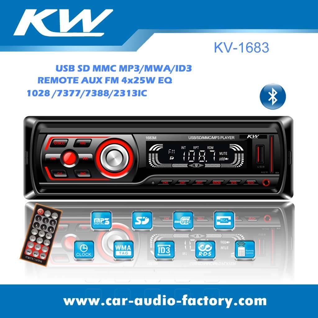 KV1683 1 din Car MP3 with Remote Control