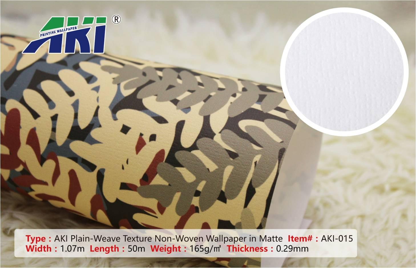 AKI 015 plain-weave texture Non-woven, sticker printable mural, wallpaper home decoration