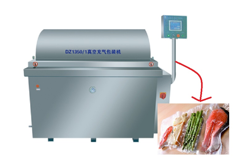 DZ1350/1L Meat Large Inflatable Automatic Vacuum Packing Machine