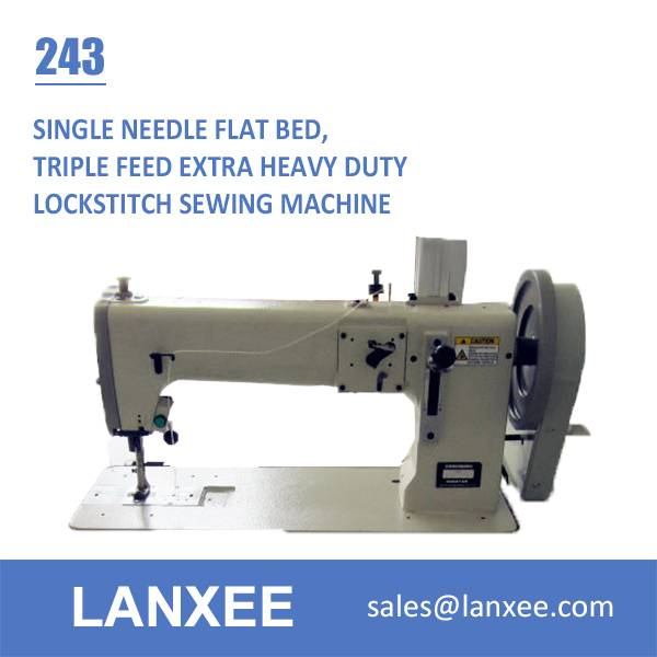 Lanxee 243 Industrial Single Needle Flat Bed Heavy Duty Juki Sewing Machine