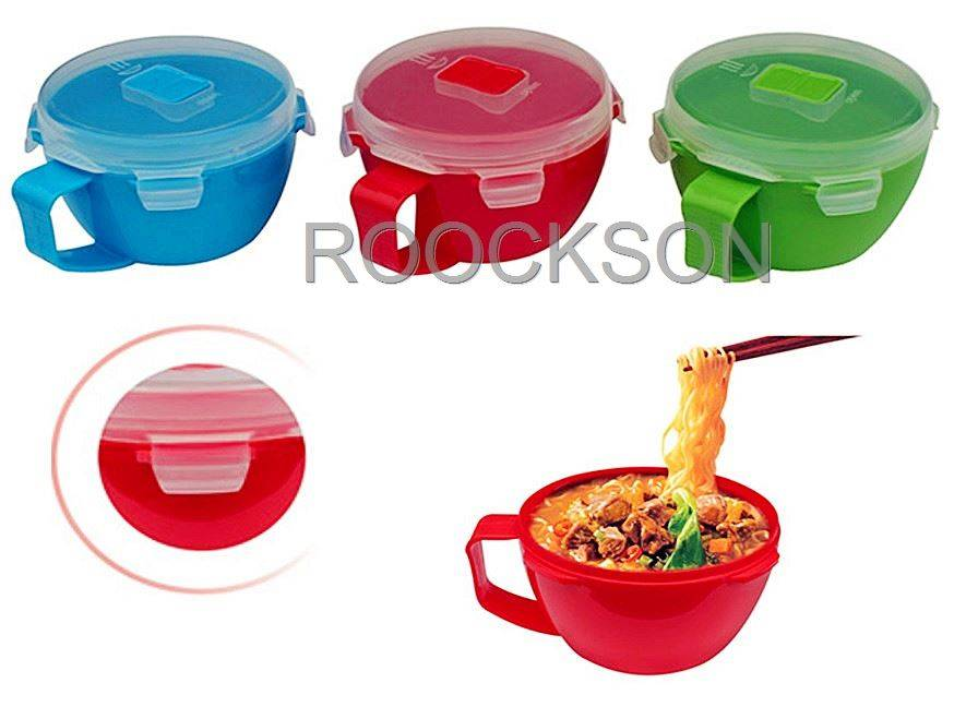 Quick Soup Noodle Bowl to Go Food Container Free Microwave Safe