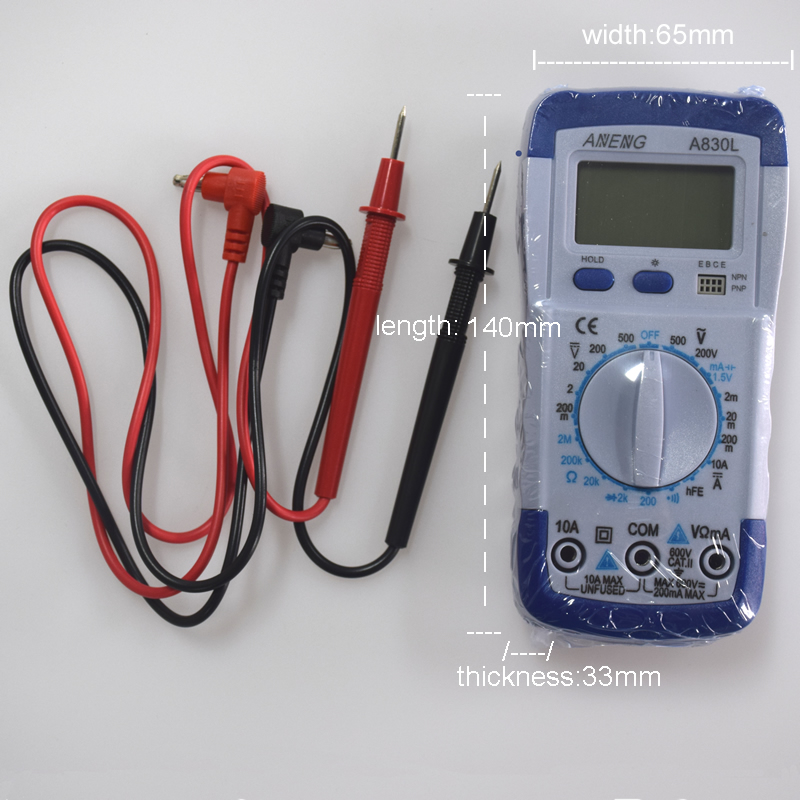 ANENG A830L digital multimeter LCD Digital Multimeter DC AC Voltage Diode Freguency Multitester