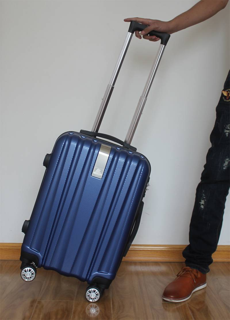 NO:H8002 Vertical stripe universal wheel travel box Luggage Trolley Bags