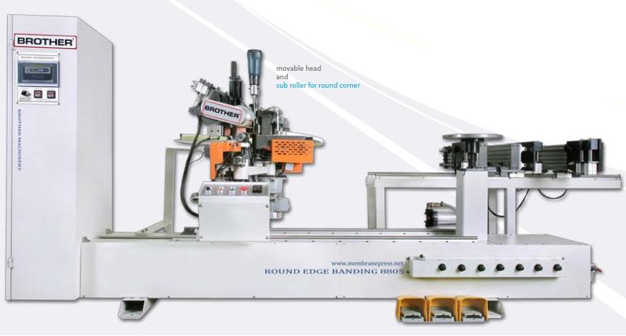 ROUND EDGE BANDING MACHINE - Brother Membrane Press