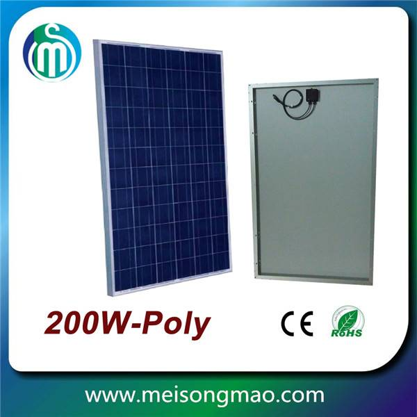 Off grid solar system poly solar module 200wp 18V for home electricity