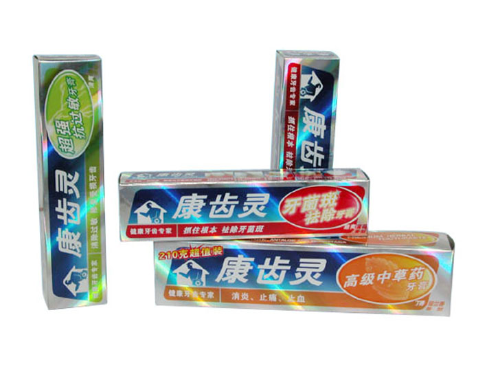 Trade Assurance BOPP Toothpaste Boxes Hologram Film