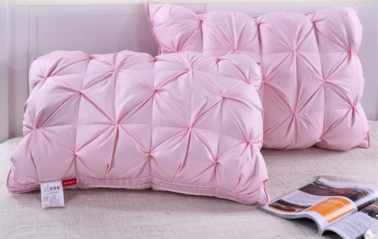 2017 Newest Design Wholesale Pure Cotton Soft Infinity Ffiber Fill Pillow With Hole