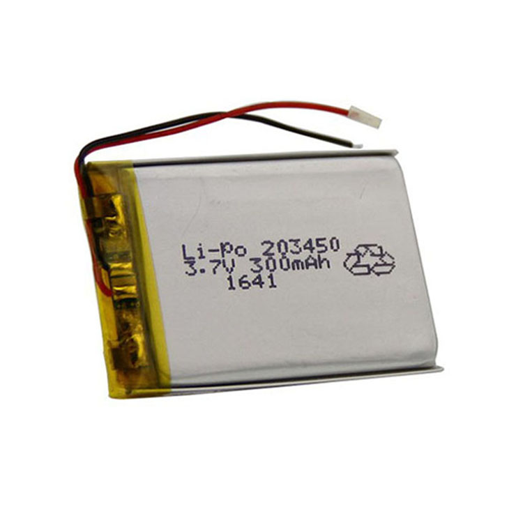 203450 3.7v 300mAh Li Polymer Rechargeable Battery for Monitoring Instrument