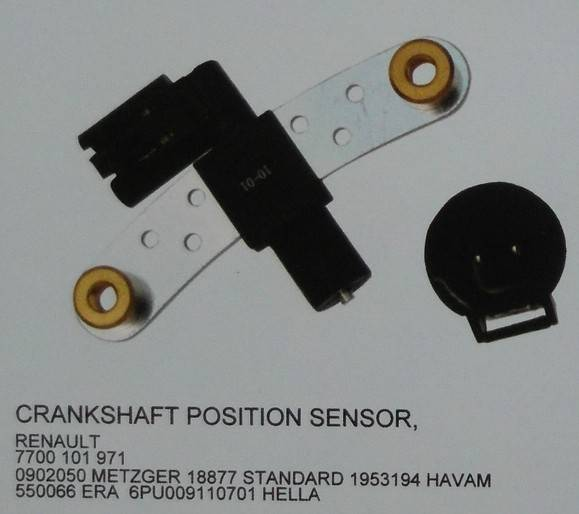 Crankshaft position sensor for Renault,7700101971