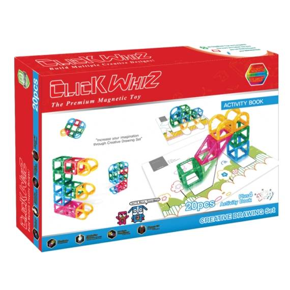 CLICKWHIZ 3D CREATIVE DRAWING Educational magnetic block toy