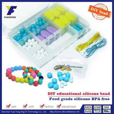 Fashion style brand silicone bead bracelet