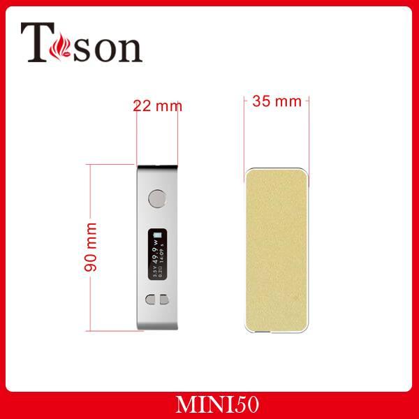 E-cigarette Mini 50W box mod vapor