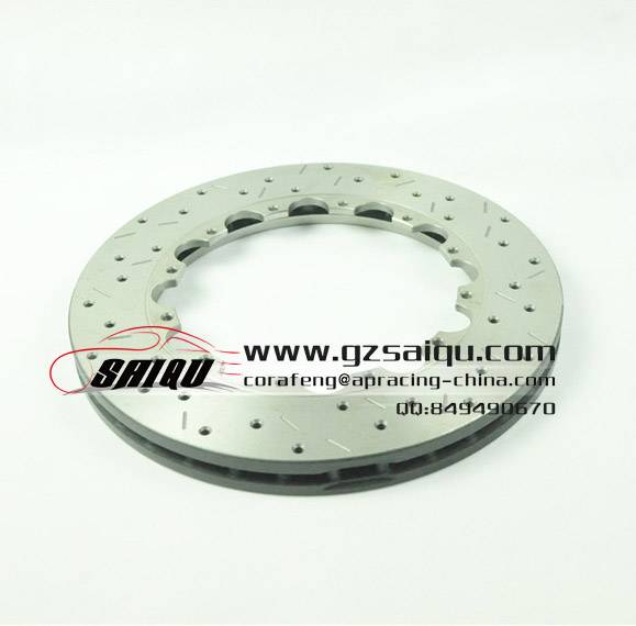 DICKASS Automobile Brake Disc 330*28 Drilled and Curved Grooves Surface