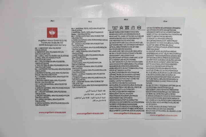 high quality woven label damask labels clothes labels for garment