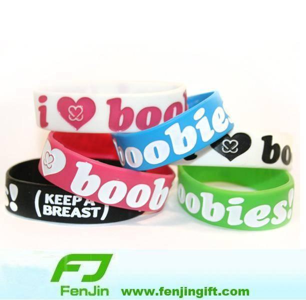 Boobie Silicone Wristband