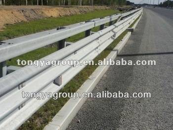 traffic guardrail barrier for highway or road