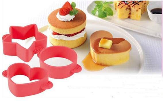 New Brand Hot Popular Useful Silicone Cake Decoration Heart, Star and Round Cake Cutter Mold