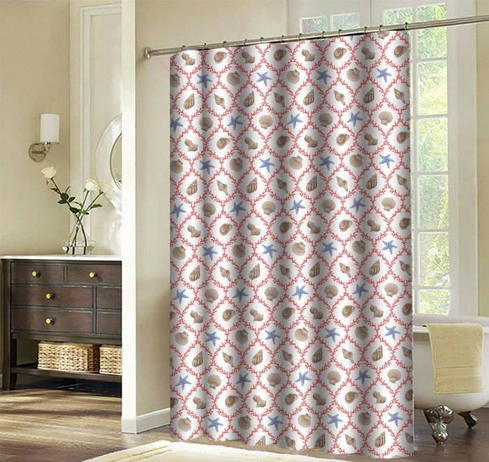 Factory directly made unique Design bathroom curtain printed