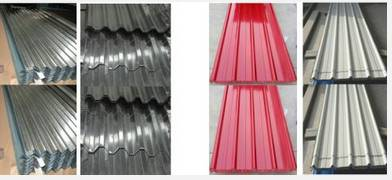corrugated steel sheet for building material