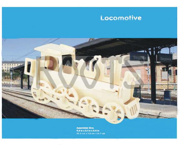 Locomotive-3D wooden puzzles, wooden construction kit,3d wooden models, 3d puzzle