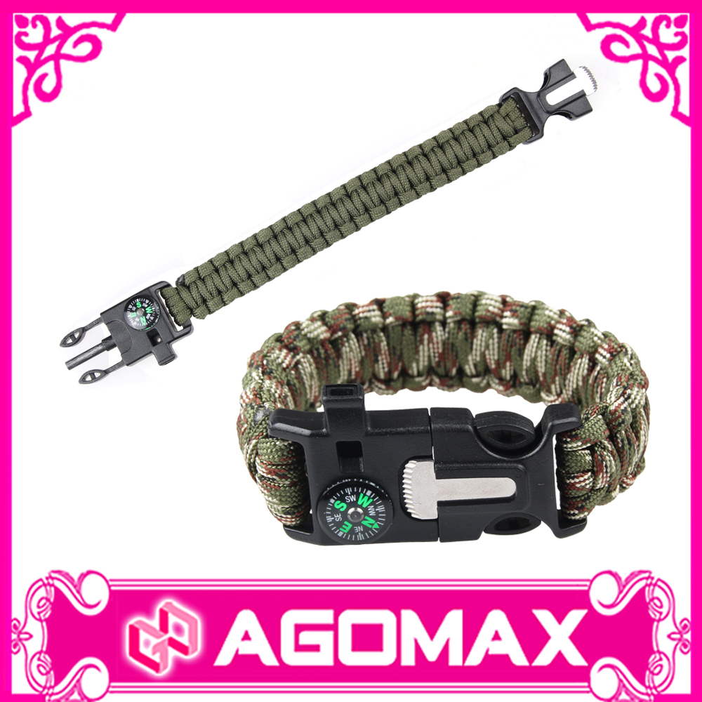 Multifunctional Outdoor Sports Emergency Kit Paracord Survival Bracelet