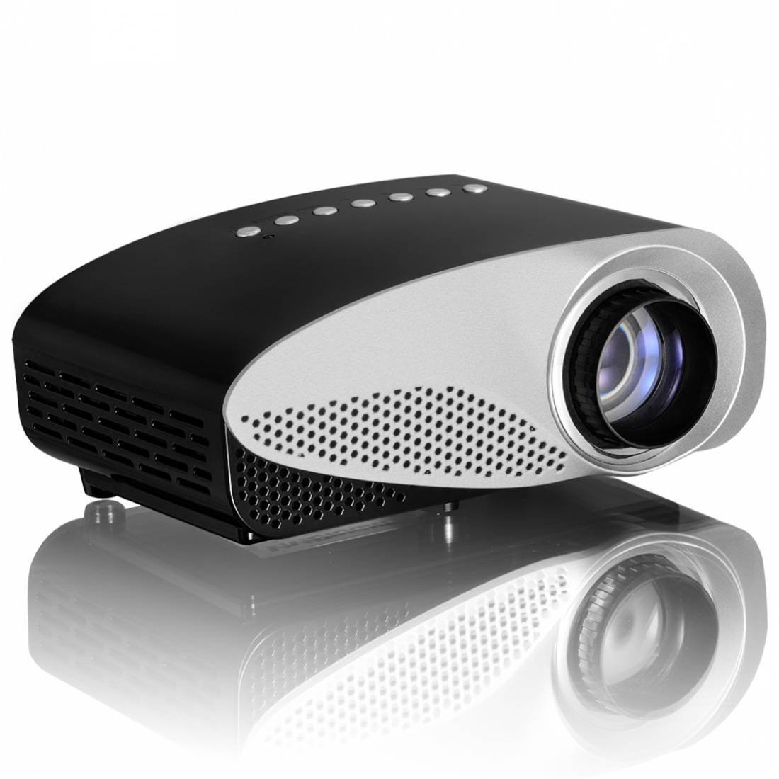 Vivibright Newest GP8S Projector Mini Home Theater Projector 1080P With Double HDMI for home theater