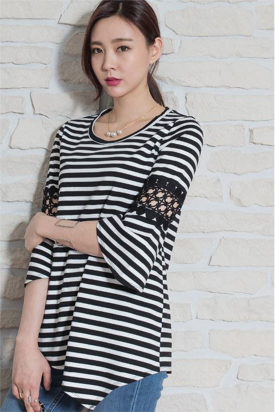 New style Fashion Summer 3/4 Sleeve T-shirt Tops