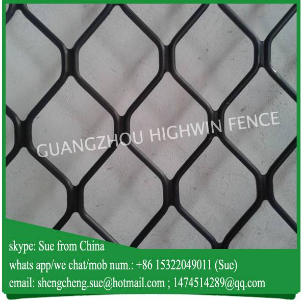 Modern decorative black aluminum window grill amplimesh