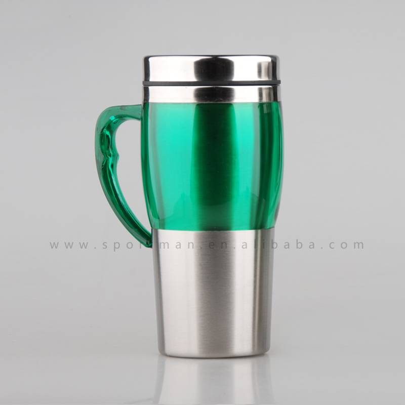 450ml stainless steel double wall thermal car mug