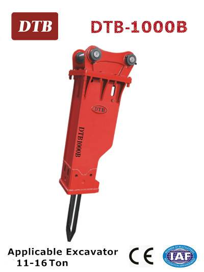 Silenced DTB-1000B Hydraulic Breaker for 11-16 ton excavator