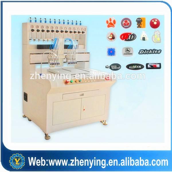 ZY brand Supply Soft PVC Label Making Machine/Rubber PVC Patches Automatic Machine