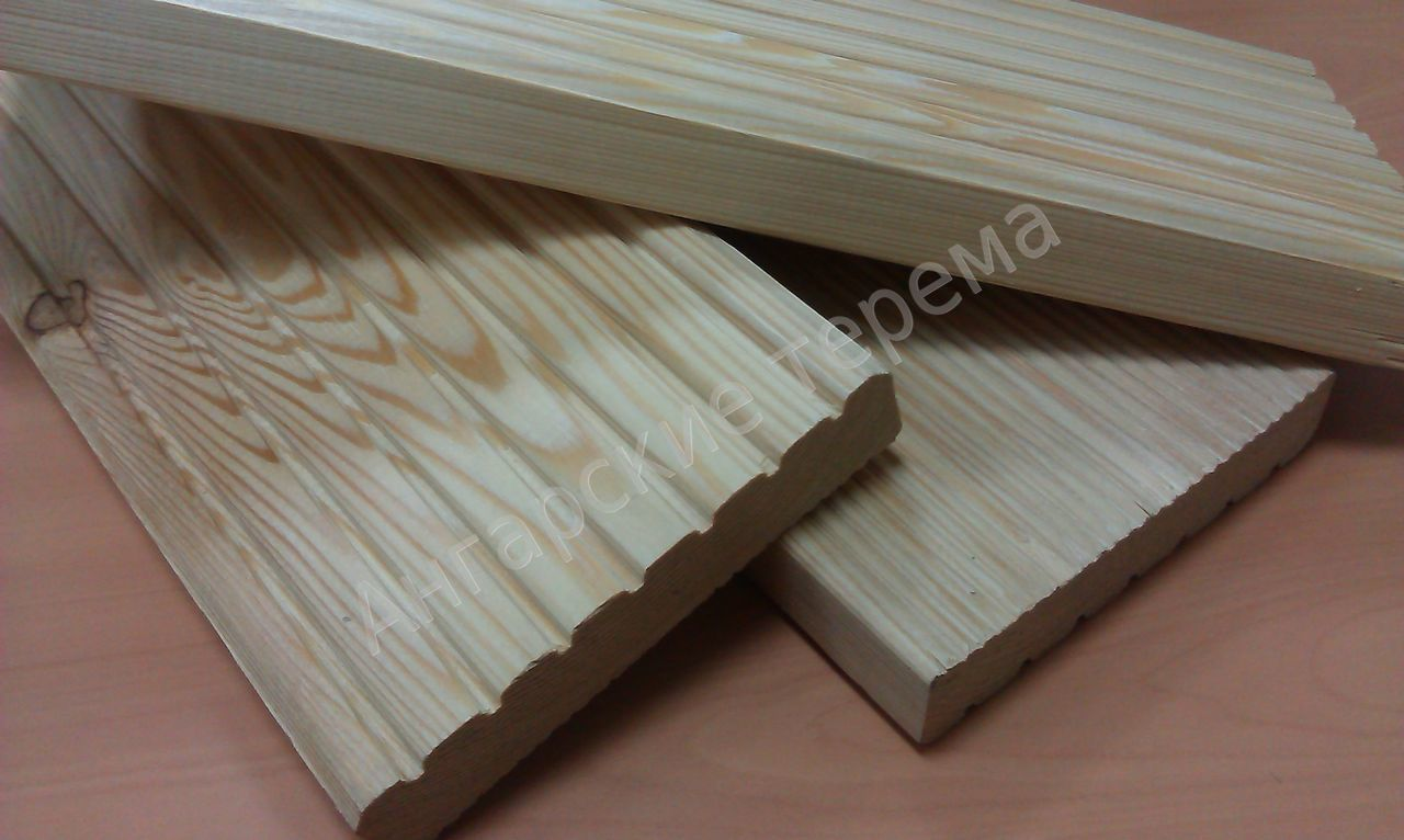 siberian larch Decking (terrace) differnent profiles, direct sale from manufacturer
