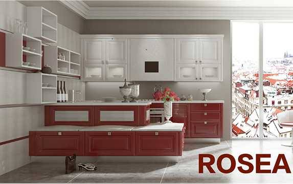 Rose,Membrane Board Modern Kitchen Cabinet