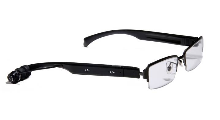 Optical reading glasses with bluetooth headset