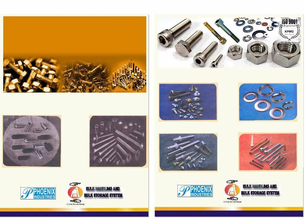 Fasteners like Pop-rivets/Blind Rivets, Rivets, Nut/Bolts, Screws, Washers etc.