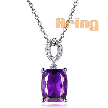Wholesale 18k Gold Jewelry Amethyst pendants solid gold jewelry