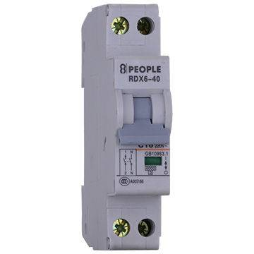DC MCB Miniature Circuit Breaker Rated Current of 1 to 63A