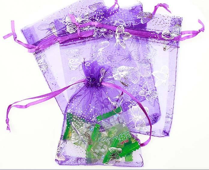 organza drawstring bag for gift