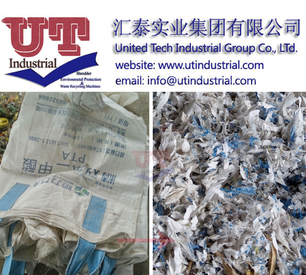Plastic Film Shredder/Woven bag shredder, double shaft shredder. plastic crusher, plastic granulator