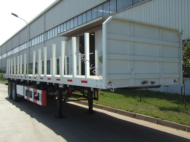 40ft flatbed semi-trailer with Side bars