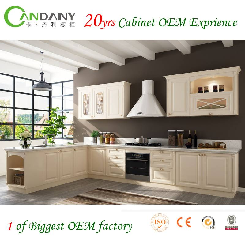 Candany PVC Membrane Kitchen Cabinets Hot Sale Products