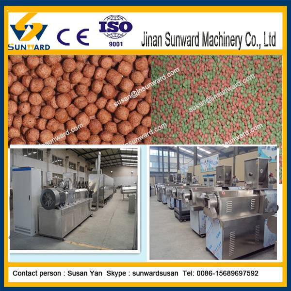 CE  fully automatic extrusion type fish feed machine
